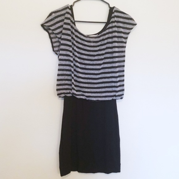 BCBGeneration Dresses & Skirts - BCBGeneration Black/Gray Stripe Dress | Small